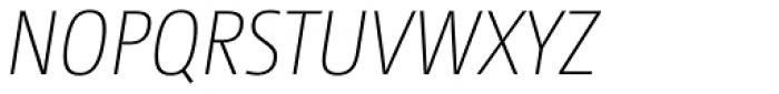 CamingoDos Condensed ExtraLight Italic Font UPPERCASE