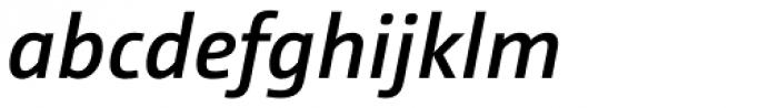 CamingoDos SemiBold Italic Font LOWERCASE