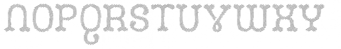 Camo Layer Line Font UPPERCASE
