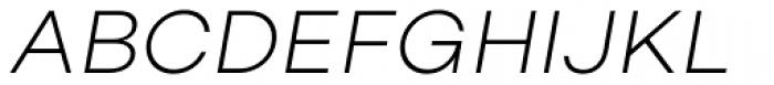 Campton Light Italic Font UPPERCASE