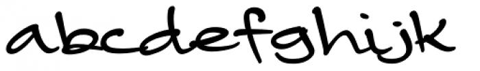 Camy Fat Font LOWERCASE