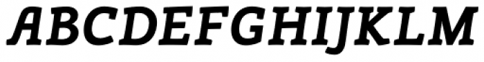 Canape Serif Bold Italic Font UPPERCASE