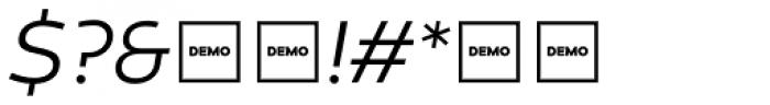 Canaro Light Italic DEMO Font OTHER CHARS