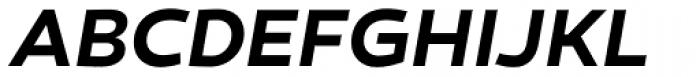 Canaro SemiBold Italic Font UPPERCASE