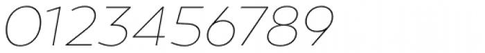 Canaro Thin Italic Font OTHER CHARS