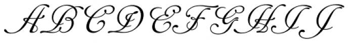 Cancellaresca Script Font UPPERCASE