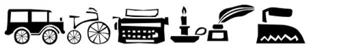 Candelaria Dingbats Font LOWERCASE