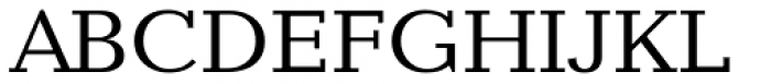 Candida Pro Roman Font UPPERCASE