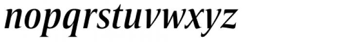 Candide Condensed Medium Italic Font LOWERCASE