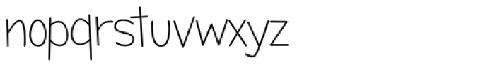 Candy Round BTN Light Font LOWERCASE