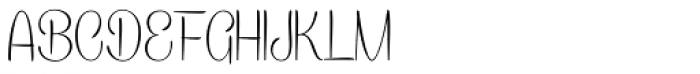 Caneletter Sans Thin Font UPPERCASE