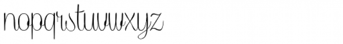 Caneletter Script Thin Font LOWERCASE