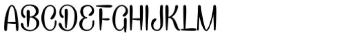 Caneletter Script Font UPPERCASE