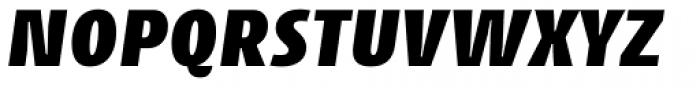 Cantiga Black Italic Font UPPERCASE