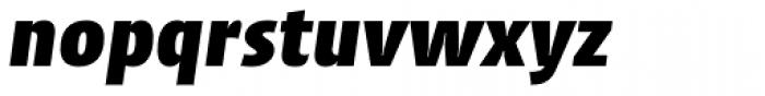 Cantiga Black Italic Font LOWERCASE