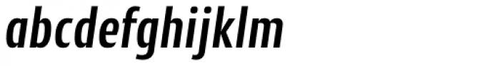 Cantiga Cnd Semi Bold Italic Font LOWERCASE