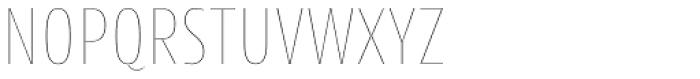 Cantiga Cnd Thin Font UPPERCASE
