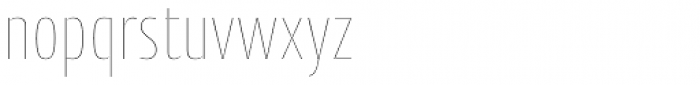 Cantiga Cnd Thin Font LOWERCASE