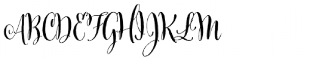 Cantoni Bold Font UPPERCASE