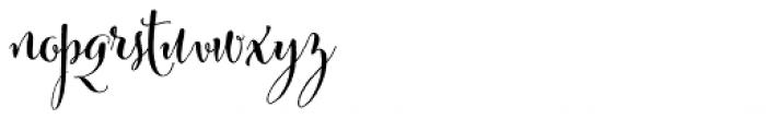 Cantoni Bold Font LOWERCASE