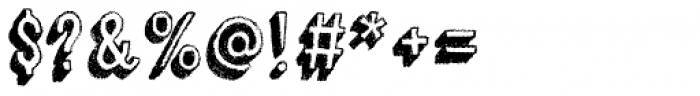 Canvas 3D Sans Shadow Font OTHER CHARS