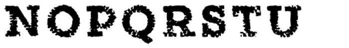 Canvas Tiny Slab Font UPPERCASE