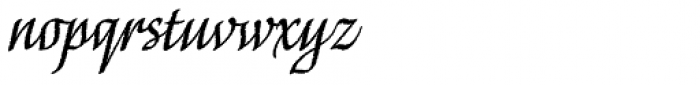 Capellina Rough Font LOWERCASE