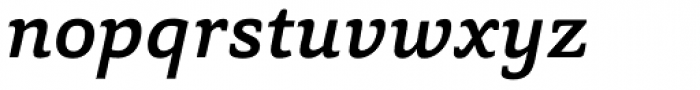 Capita Medium Italic Font LOWERCASE