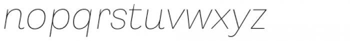 Capital Gothic Thin Italic Font LOWERCASE