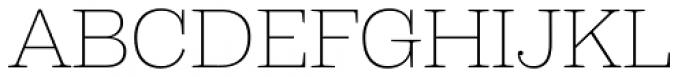 Capital Serif Extra Light Font UPPERCASE
