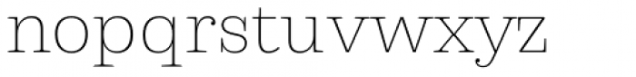 Capital Serif Extra Light Font LOWERCASE