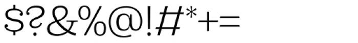Capital Serif Light Font OTHER CHARS