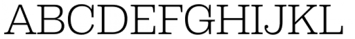 Capital Serif Light Font UPPERCASE