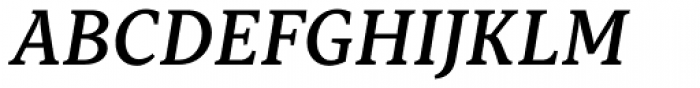 Capitolina Semi Bold Italic Font UPPERCASE