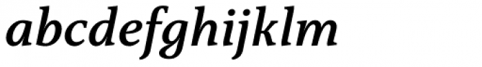 Capitolina Semi Bold Italic Font LOWERCASE