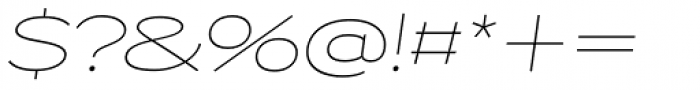 Capoon Thin Italic Font OTHER CHARS