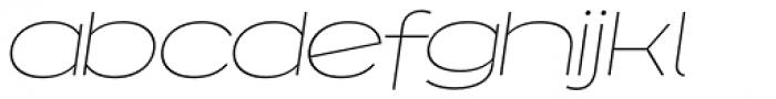 Capoon Thin Italic Font LOWERCASE