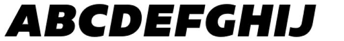 Caprina Extra Black Italic Font UPPERCASE
