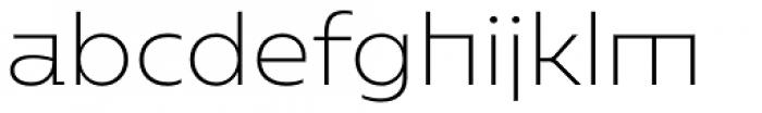 Caprina Extra Light Font LOWERCASE