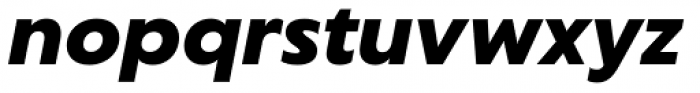Captura Black Italic Font LOWERCASE