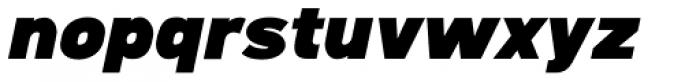 Caracas DemiBlack Italic Font LOWERCASE