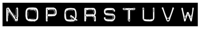 Carbon 14 Black Tape Font UPPERCASE