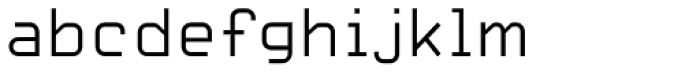 Carbon Thin Font LOWERCASE