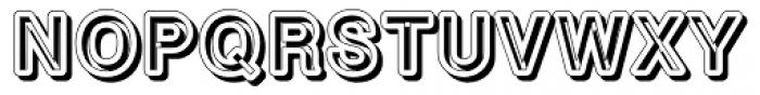 Carbonoshadow Font UPPERCASE