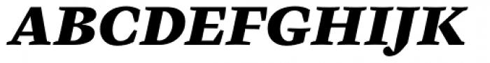 Cardea Basic Black Italic Lining Font UPPERCASE