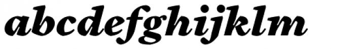 Cardea Basic Black Italic Lining Font LOWERCASE