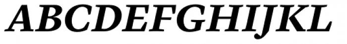 Cardea Basic Bold Italic Lining Font UPPERCASE
