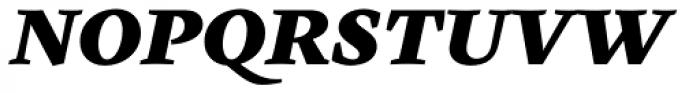 Cardea Black Italic Font UPPERCASE