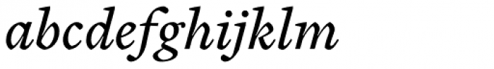 Cardea Regular Italic Font LOWERCASE
