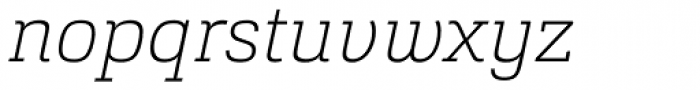 Cargan Thin Italic Font LOWERCASE